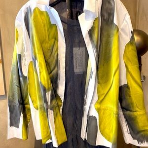 Melrosa Italy Hand Painted Cotton Shirt.